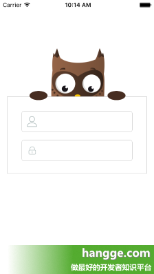 原文:Swift - 一个纯代码实现的登录界面(带猫头鹰动画效果)